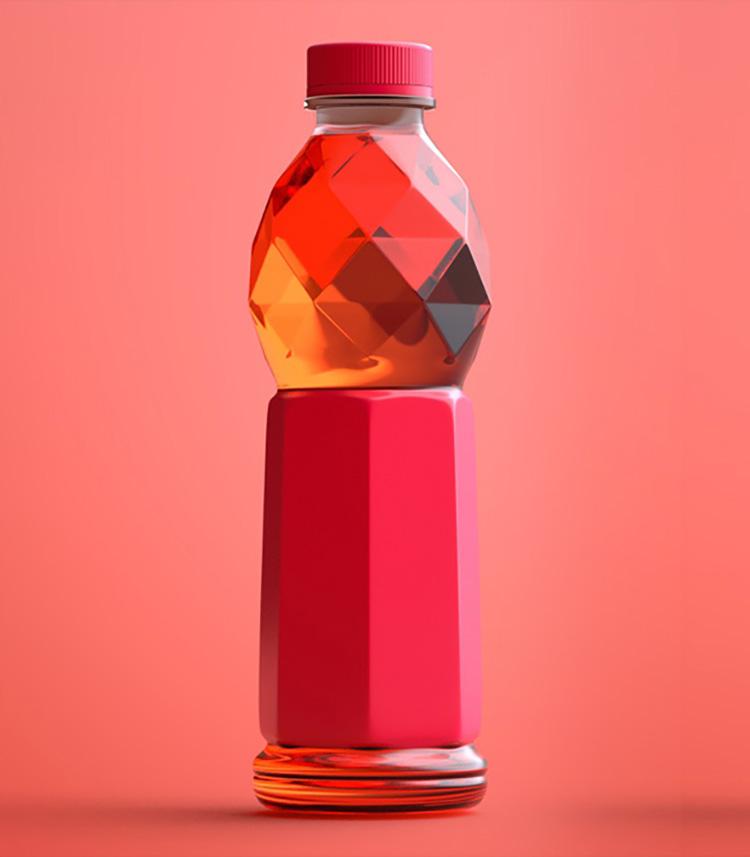 塑料瓶 饮料瓶果汁饮料瓶设计C4D模型