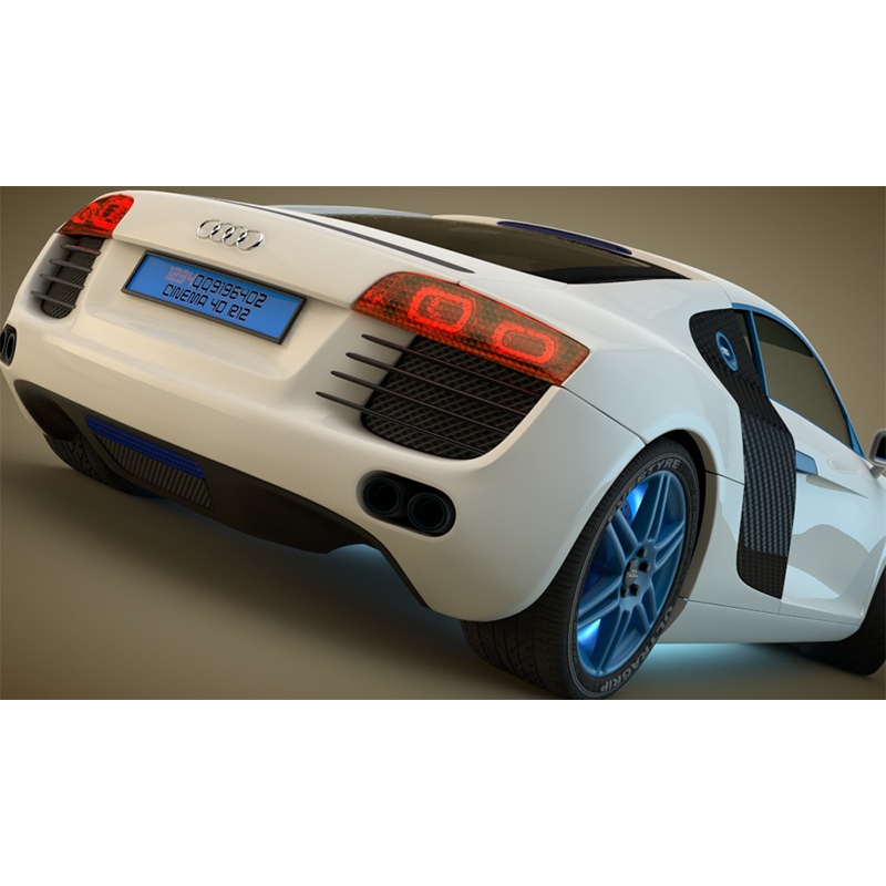 奥迪V8汽车跑车轿车赛车C4D模型