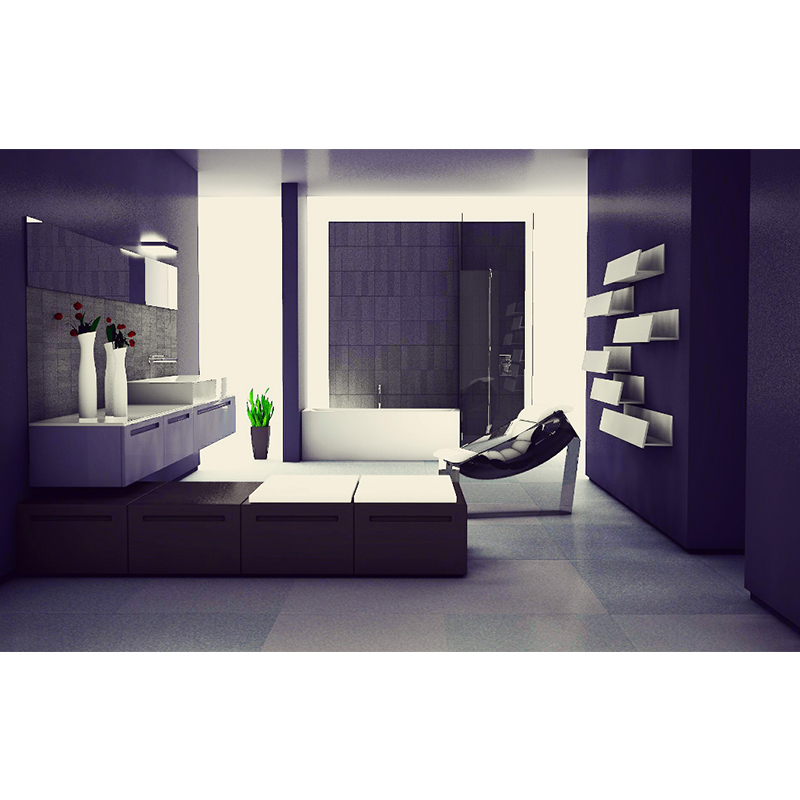 浴室洗手间厕所装修室内简约C4D模型