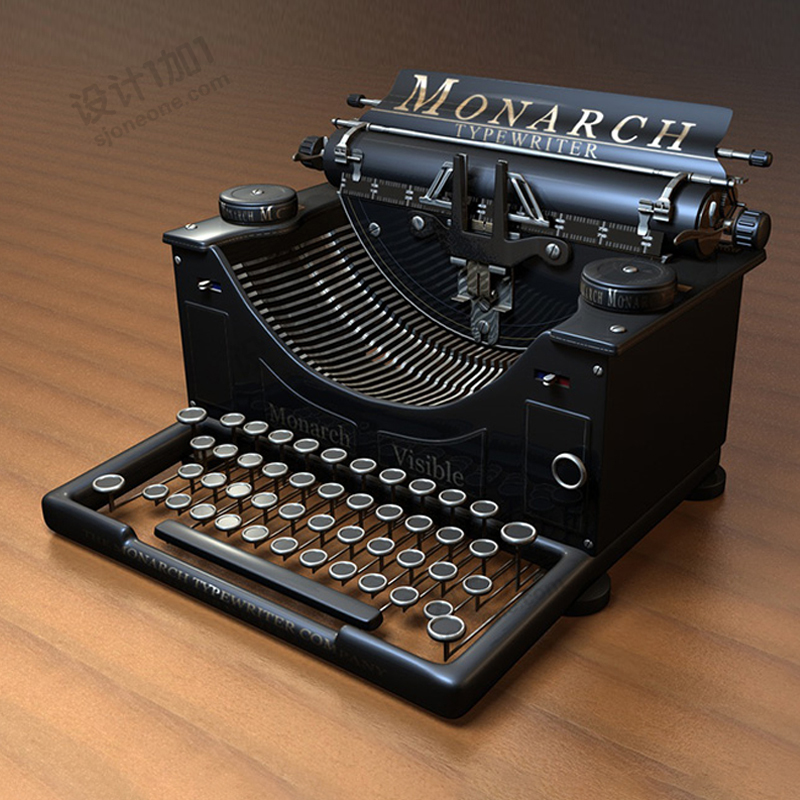 老式打字机装饰品室内摆件模型
