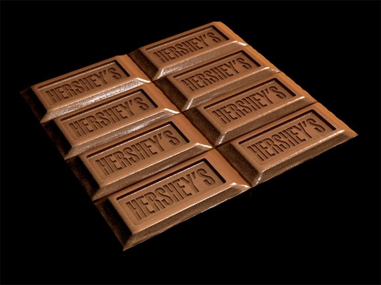 巧克力块食物零食糖果素材C4D模型创意场景