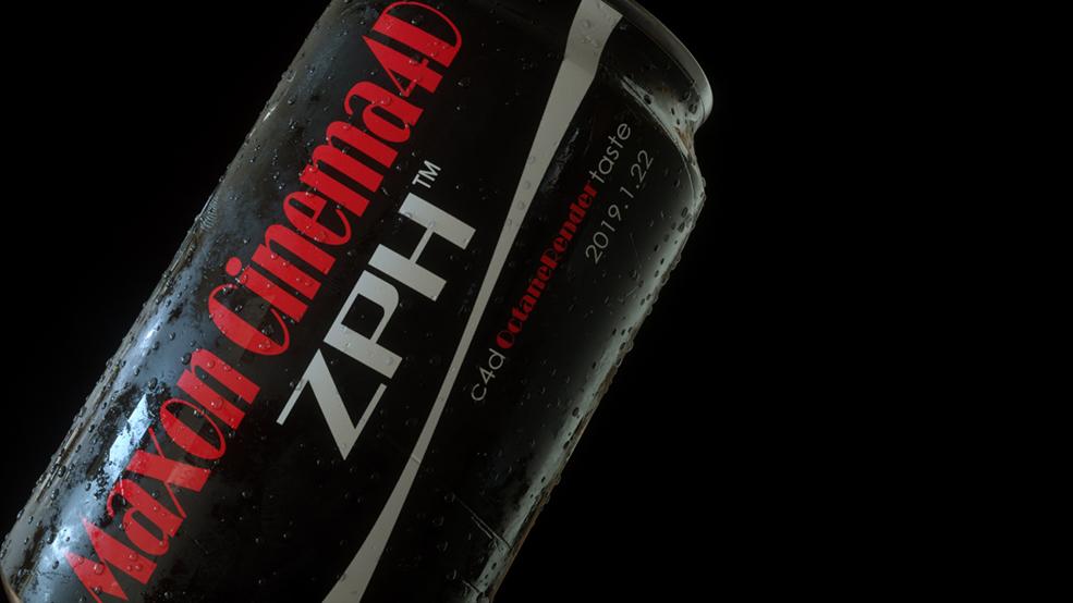 食品饮品酒水饮料可口可乐易拉罐水珠冰块C4D模型