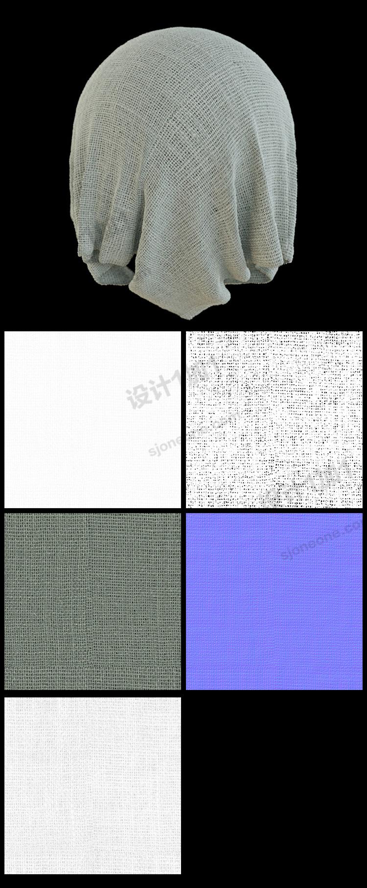3d模型麻布贴图无缝纹理棉麻纹理法线置换凹凸贴图素材图
