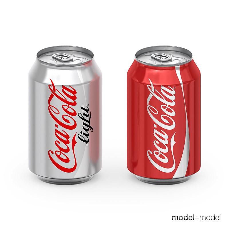 食品饮料可口可乐玻璃瓶易拉罐模型