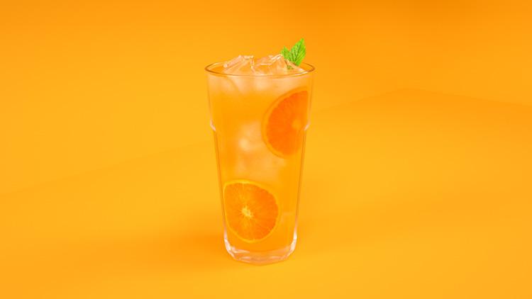 橙汁渲染模型C4D模型创意场景