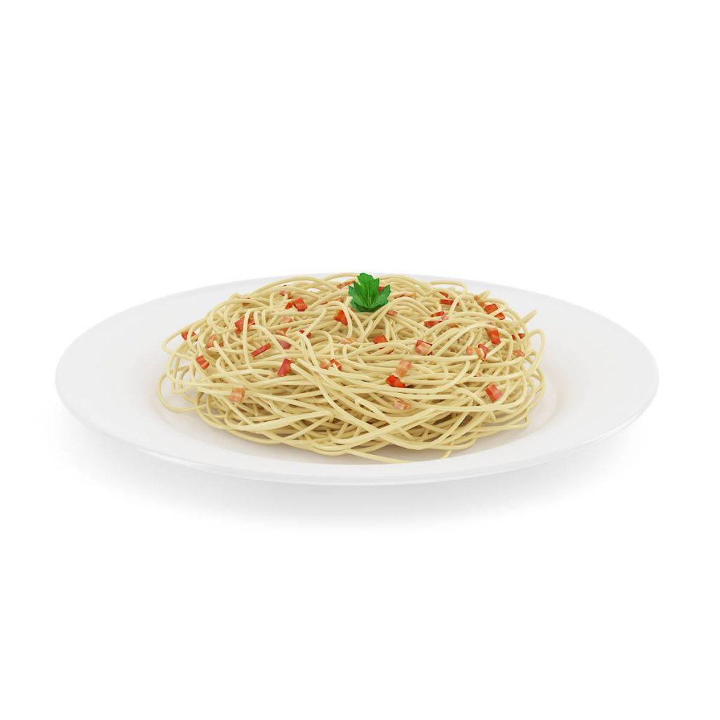 餐盘中的意大利面C4D模型