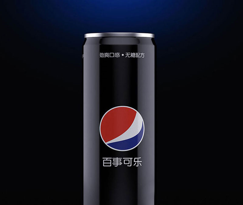 百事可乐黑罐酒水饮料产品包装C4D模型