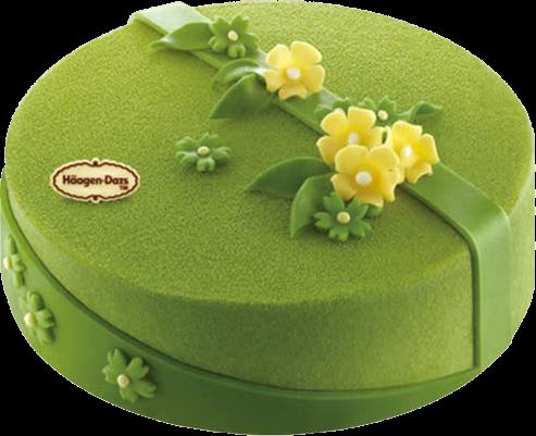 绿色抹茶蛋糕元素