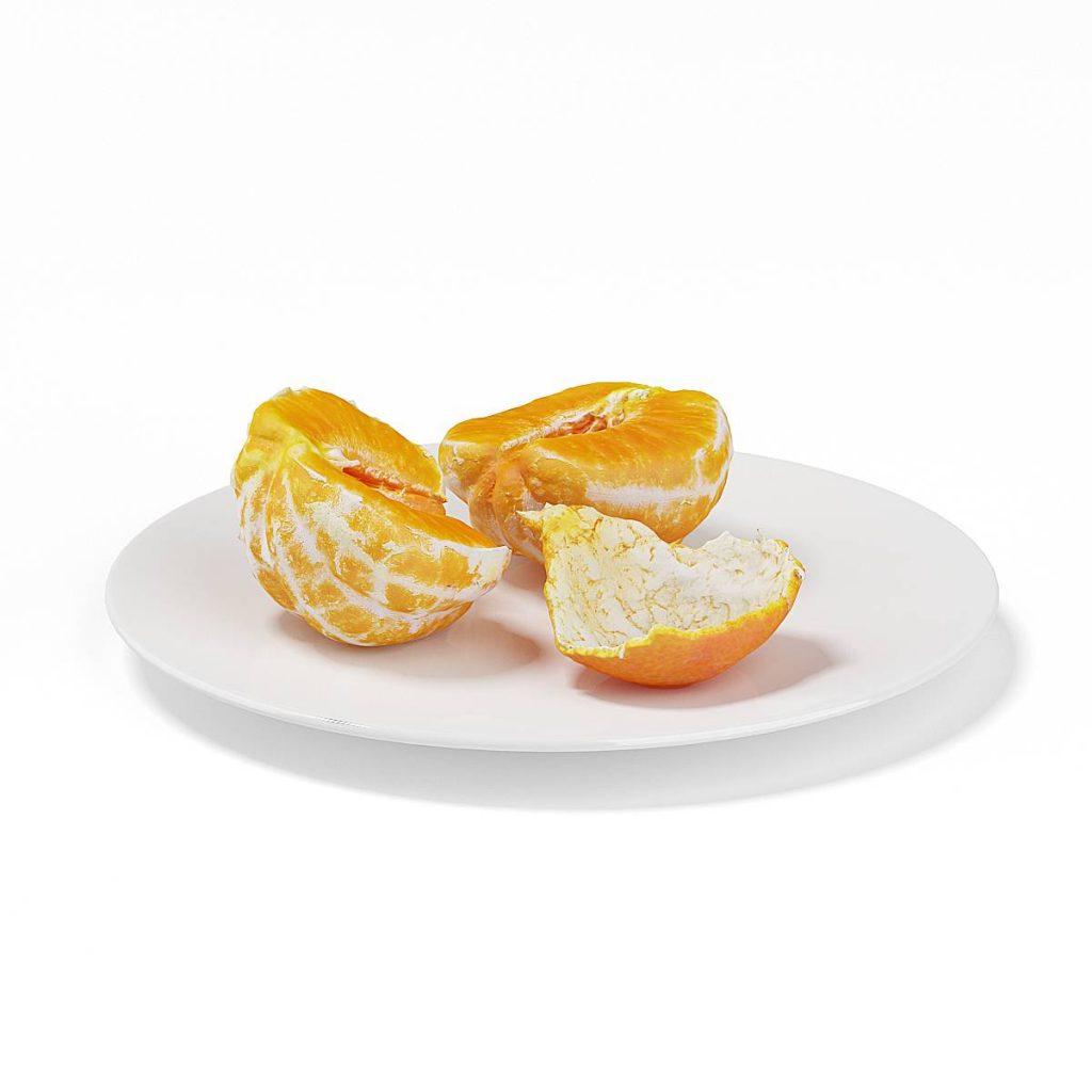 水果桔子橘子C4D模型