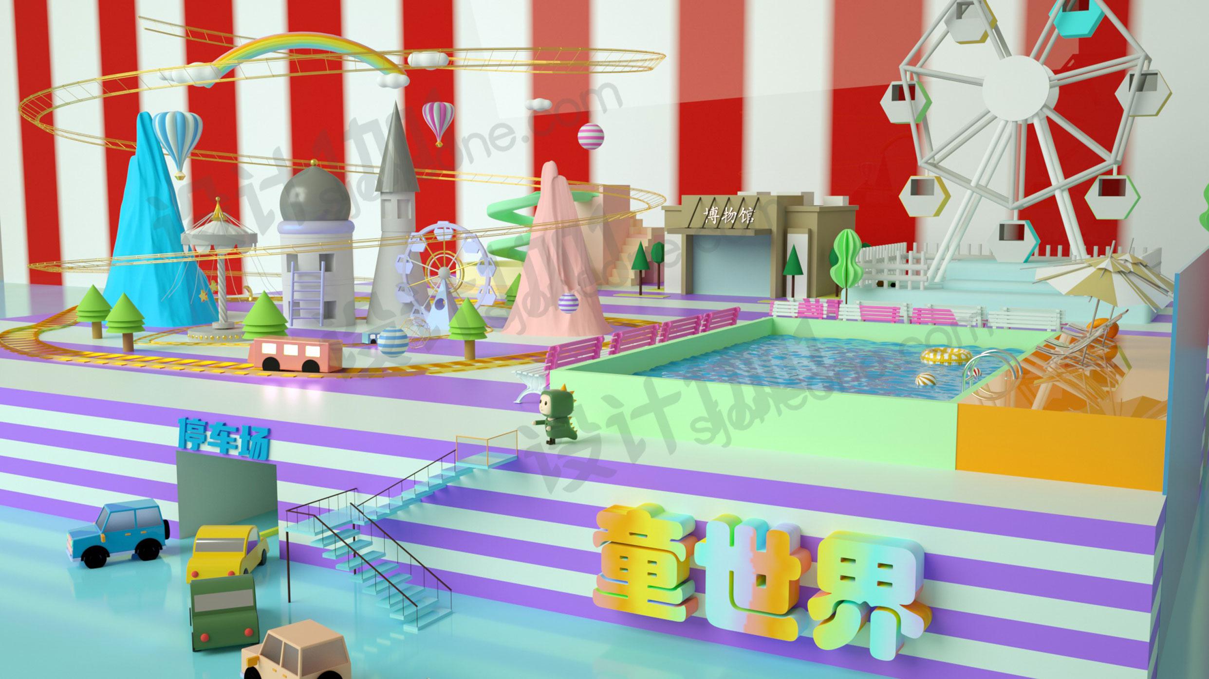 c4d儿童乐园素材模型