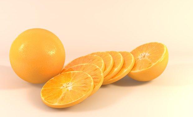 橘子 橙子 水果3D模型