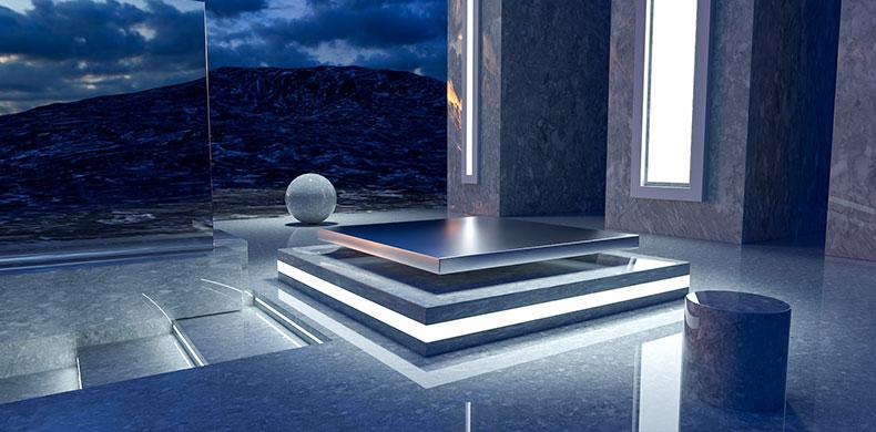 立体舞台场景炫酷空间科技场景背景电商C4D工程源文件模型