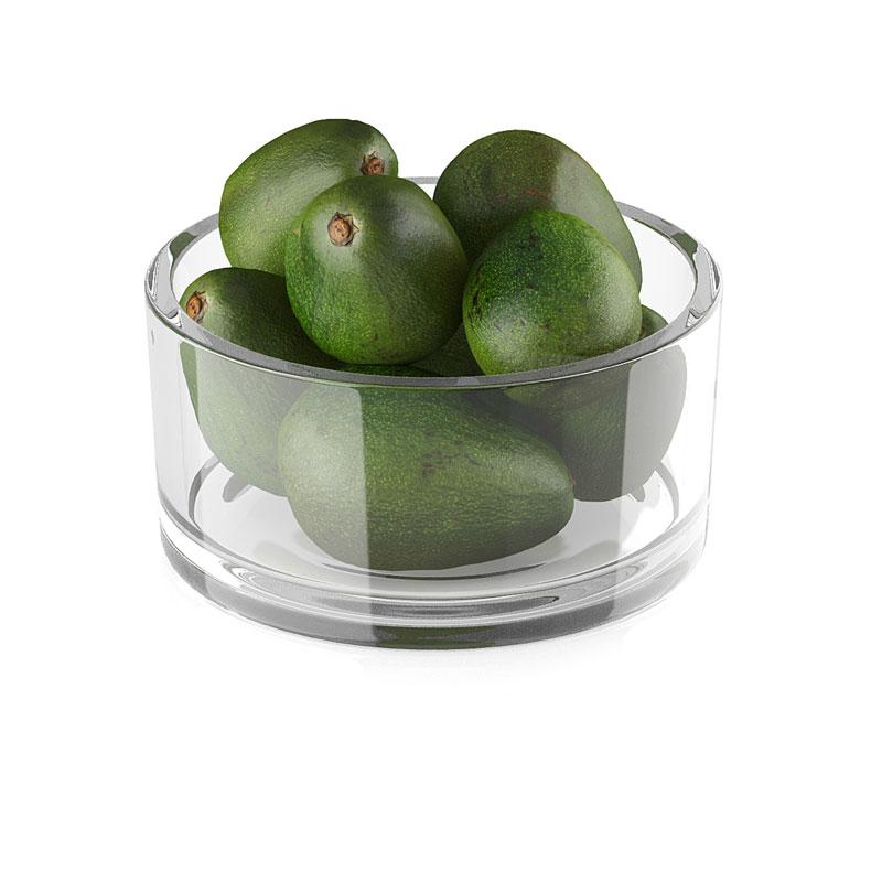 玻璃容器水果食物水果牛油果C4D模型