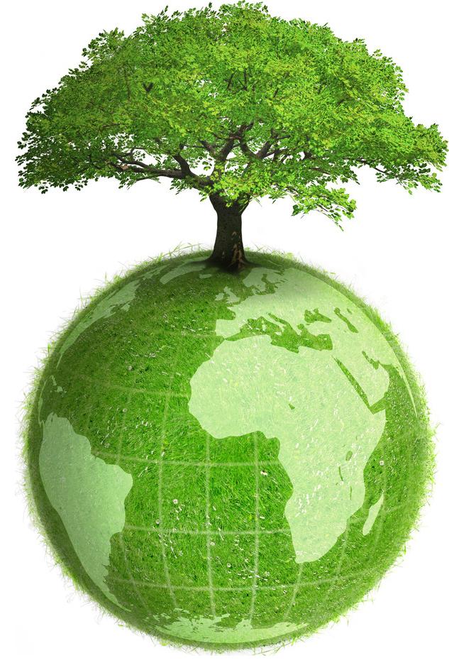 环保绿色地球、树木免扣元素