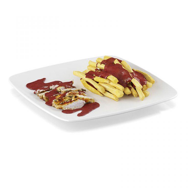 食物模型薯条C4D模型