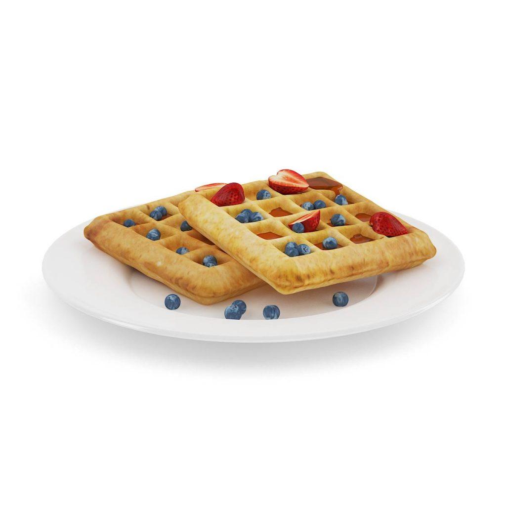 盘子中的食物蛋糕饼C4D模型