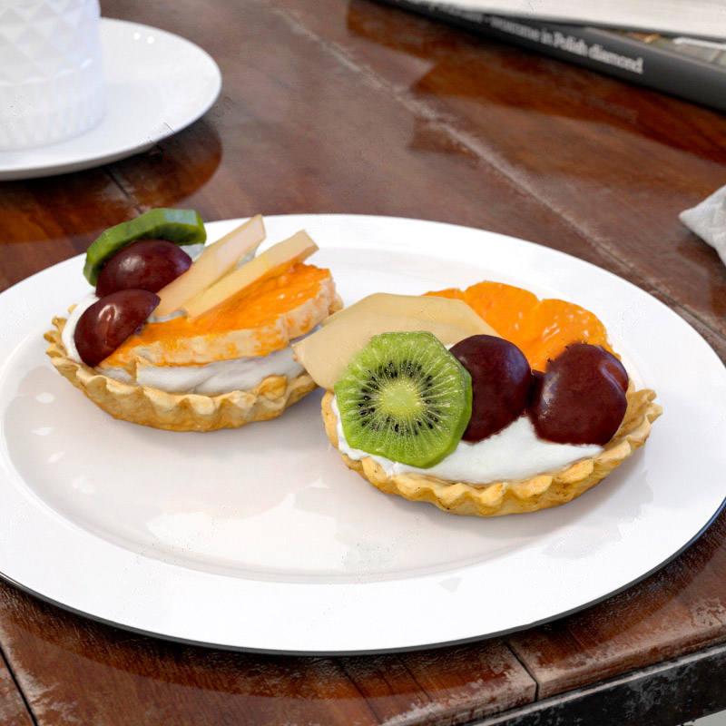 食品蛋糕水果面包模型高精度场景C4D模型3D素材