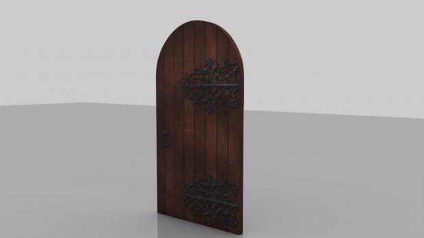 中世纪的门木门3D模型