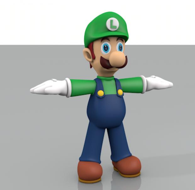 路易卡通人物3D模型