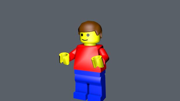 乐高人卡通人物3D模型