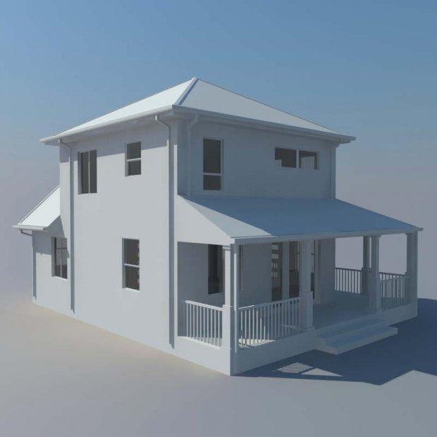 房屋建筑3D模型