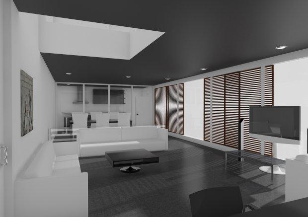 客厅 起居室3D模型
