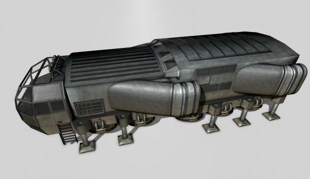 3D模型素材:科幻片里的未来概念货船