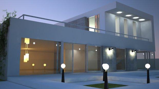 现代住宅 房屋3D模型