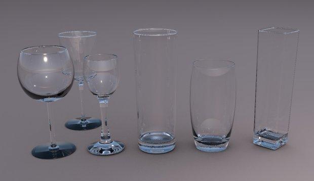 玻璃杯水杯3D模型