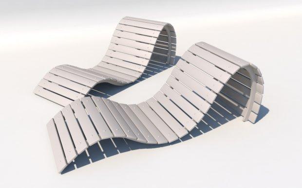 豪华太阳椅3D模型