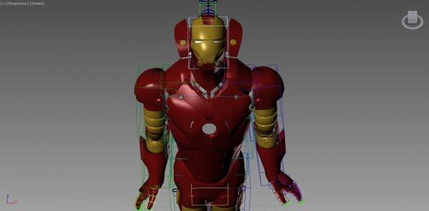 最新钢铁侠3ds max模型