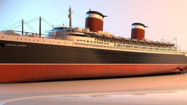 汽船轮船美国3D模型