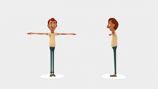 老师教师人物场景3D模型