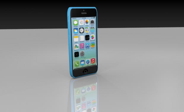 手机iPhone 5c 3D模型