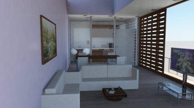 现代客厅场景3D模型