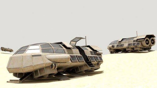 3D模型素材:科幻世界的小型飞船航天飞机运输