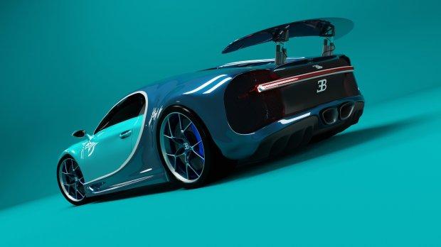 3D模型素材:蓝色炫酷跑车3D模型