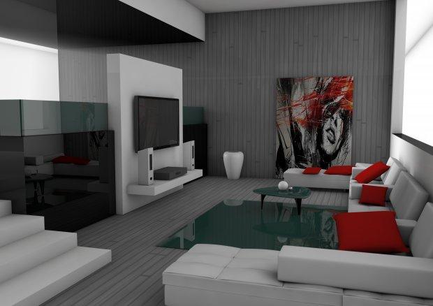 客厅起居室3D模型