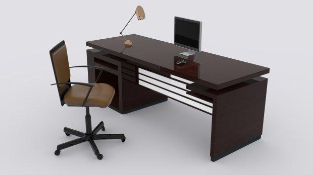 办公桌场景3D模型
