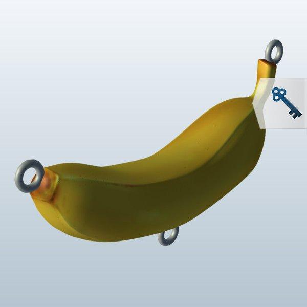 水果香蕉食品3D模型