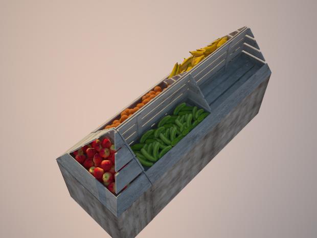 水果摊食物3D模型