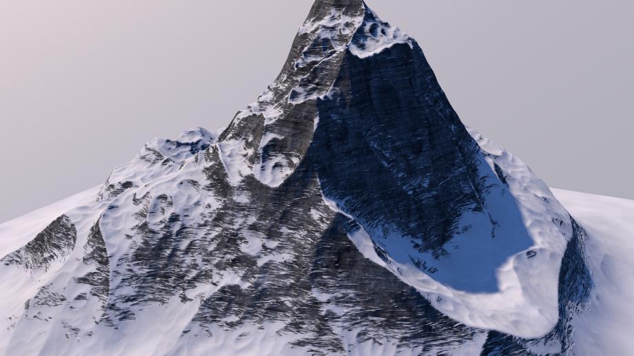山 山脉3D模型
